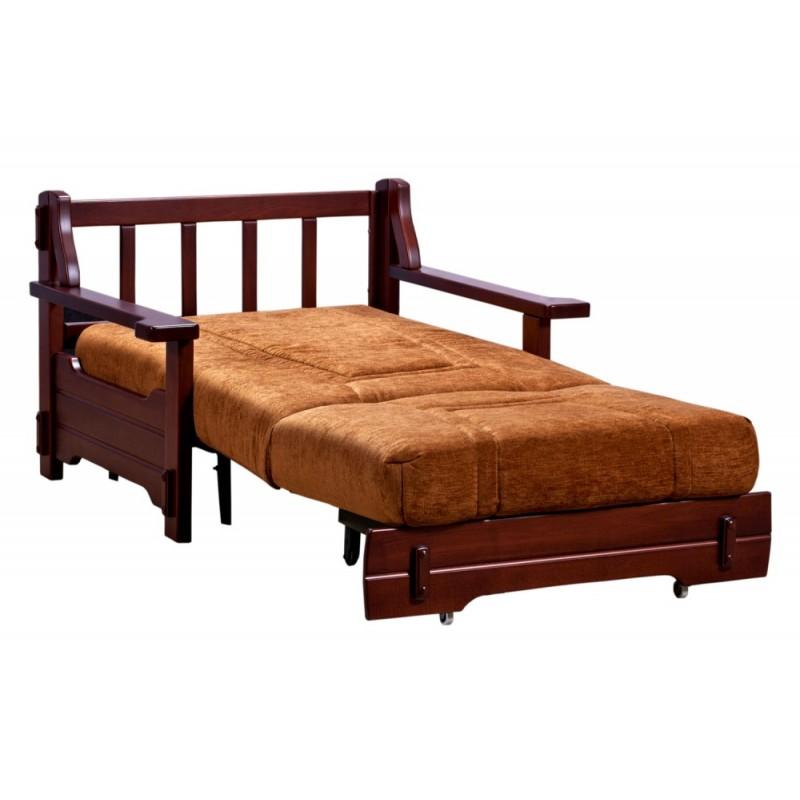 Кресло-кровать аккордеон Брест с деревянными подлокотниками (фото 2)