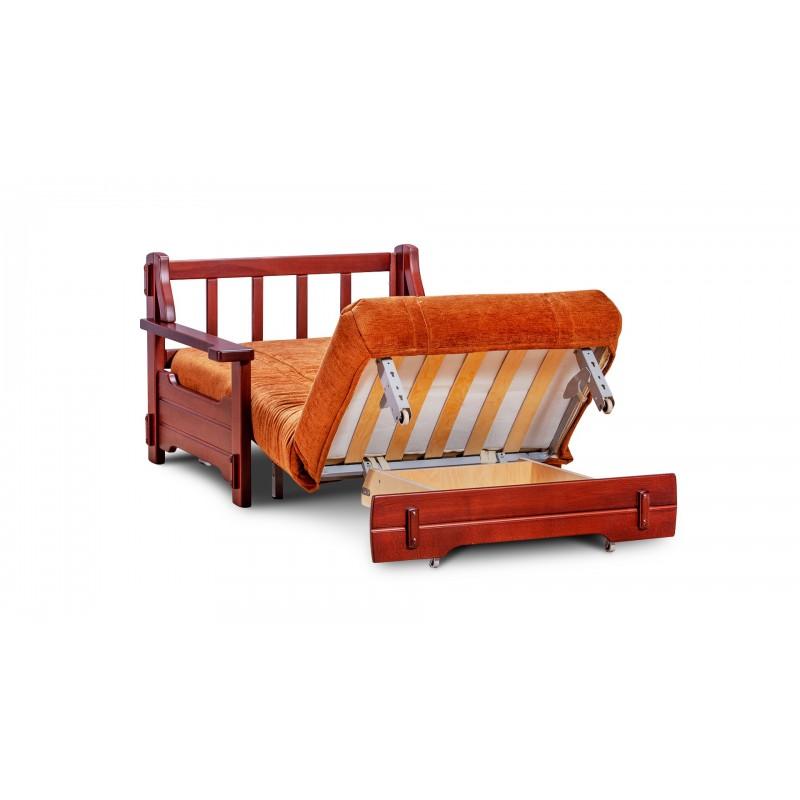 Кресло-кровать аккордеон Брест с деревянными подлокотниками (фото 3)
