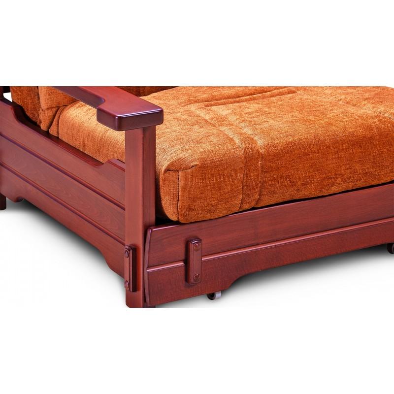 Кресло-кровать аккордеон Брест с деревянными подлокотниками (фото 4)