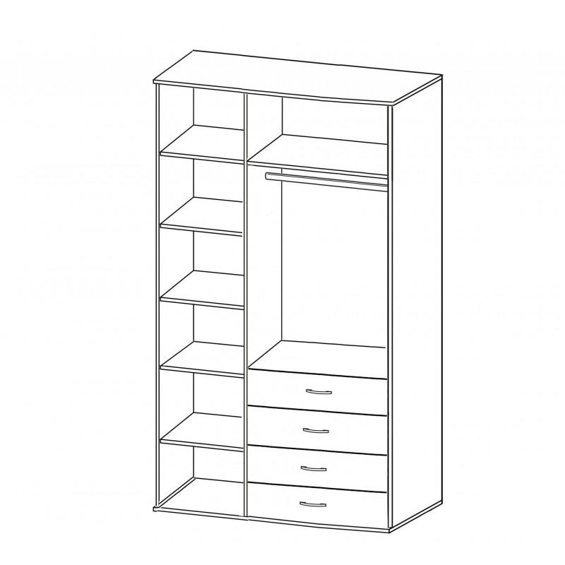 Шкаф распашной РИО-3.9 (фото 2)