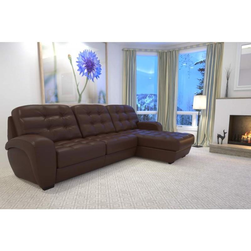 Угловой диван Соло с оттоманкой LAVSOFA (фото 2)