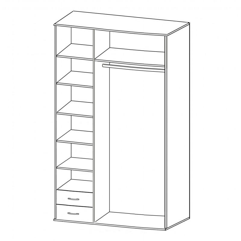 Шкаф распашной РИО-3.4 (фото 2)