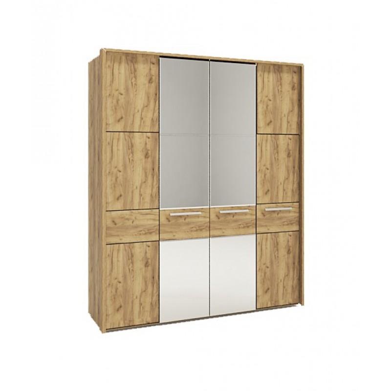 Шкаф 4-х дверный с зеркалом №224 (серия МК 52)