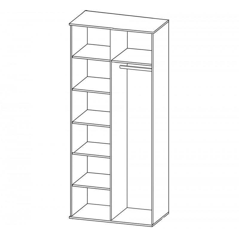 Шкаф распашной РИО-2.1/2.6/2.11 двухдверный (фото 3)