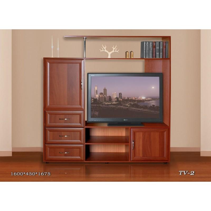 Тумба под телевизор ТВ-2 с ящиками (фото 2)