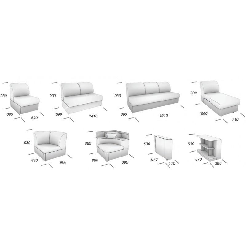 Угловой модульный диван Виза 08 (фото 9)