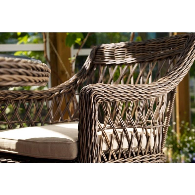 Комплект плетеной мебели Beatrice white (фото 7)