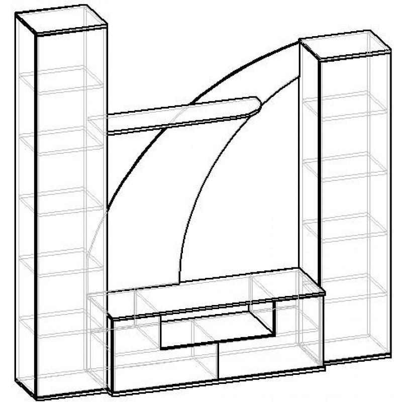 Стенка Мебелайн-14 (фото 2)
